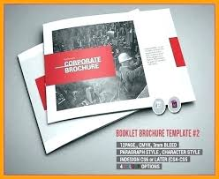 resume booklet great examples of professional booklet designs free template