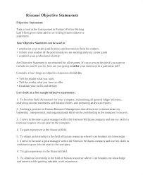Job Objectives Resume Career Goal Resume Examples Sample Career