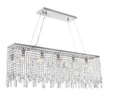 sofia 40 inch crystal chandelier brushed nickel finish