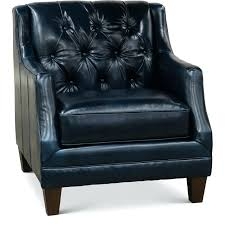 blue leather chair. Tufted Leather Chair Dark Blue Button And A Half