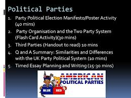 political parties party political election manifesto poster 1 political