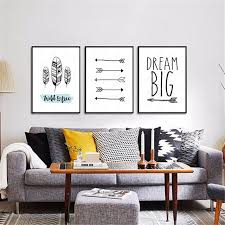 diy office art. Unique Diy HAOCHU House Office Bedroom DIY Painting Quote Arrow Black White Background  Wall Art Poster Print Canvas Intended Diy O