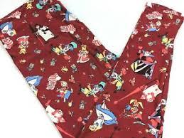 Lularoe Tc2 Size Chart Details About Lularoe Disney Tc2 Leggings Red Alice In Wonderland Mad Hatter Womens 18 28w
