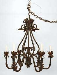 chandelier italian renaissance style cent wrought iron chandelier with 6 scroll arms with an applied leaf chandelier italian
