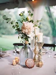 romantic reception decor fl tablescapes vintage garden wedding centerpiece