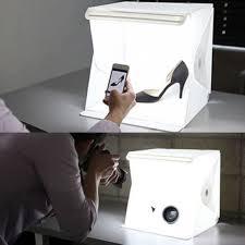 mini photo studio photography tent kit backdrop cube box built in light room