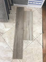 complement grey brown wood tile floors