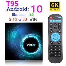 Ban Đầu T95 Smart TV Box Android 10 2.4G & 5G Wifi Cho Youtube HD 6K Android  TV hộp Google Voice Trợ Lý Pk H96 Max Set Top Box|Set-top Boxes