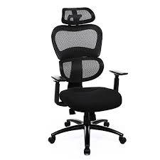 adjustable lumbar support office chair. SONGMICS Ergonomic Lumbar Support Office Chair High Back Adjustable Swivel Mesh Black UOBN89BK U