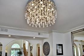 crystal flush mount chandelier fresh et2 lighting cascada crystal eighteen light down lighting flush