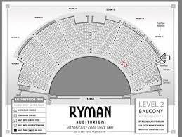 Ryman Seating Chart Balcony Opry At The Ryman Tickets 2 Balcony Aisle 157 95