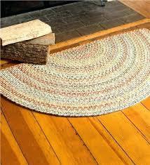 small round area rugs blue ridge half wool braided rug 2 x 4 for medium