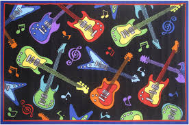 fun rugs multi color guitars notes contemporary area rug all over ft 37