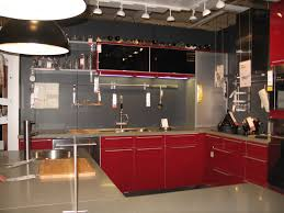 White Kitchen With Red Accents Red And Black Kitchen Decoration Ideas Modern White Design With