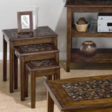 chair side table. jofran baroque brown 3-piece nesting chairside tables - item number: 698-7 chair side table