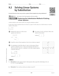 2 solving linear systems by substitution