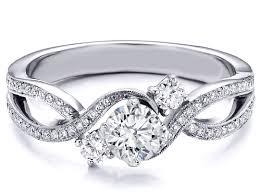 infinity wedding rings. three stone infinity diamond engagement ring 0.68 tcw in 14k white gold wedding rings n