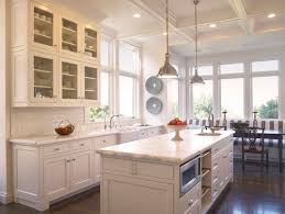 Traditional Kitchen with Clemson Classic Single Pendant, Amarone Granite  Countertop, Pental, Limestone Tile