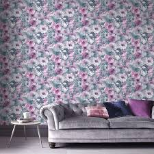 fl wallpaper can add a splash of personality and give your home a laid back bohemian feel diffe fl patterns will have a diffe effect
