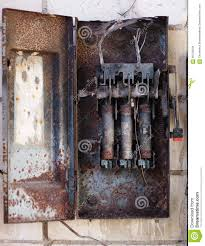 burned fuse box stock photo image 65129232 Old Fuse Box Trip Switch royalty free stock photo Main Fuse Box House