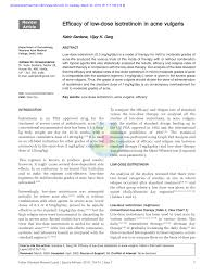 Pdf Efficacy Of Low Dose Isotretinoin In Acne Vulgaris
