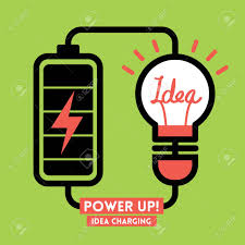 Charging Battery Light Lightbulb Idea Charging Battery Power Vector