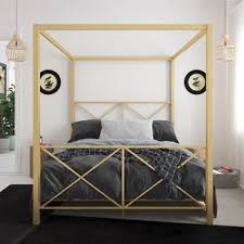 Gold Canopy Bed Frame Queen | Wayfair