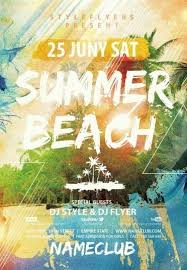 Beach Flyer Summer Beach Psd Flyer Template 8946 Styleflyers