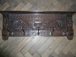 Antique Oak Coat Rack Antique Carved Oak Coat Hooks 100 Sellingantiquescouk 9