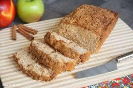 cinnamon applesauce bread with self