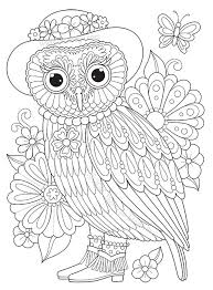 owl coloring pictures. Plain Coloring Lady Owl Coloring Page By Thaneeya McArdle To Pictures G