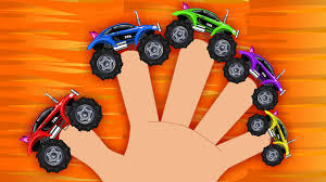 Sports Car Monster Truck Sports Car Finger Family Racing Car
