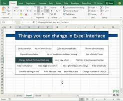 15 Default Settings That You Can Change In Excel Excel