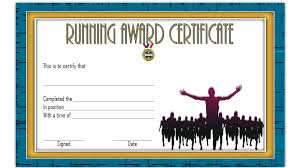 Running Certificate Template Award Templates Of Sportsmanship Fun ...