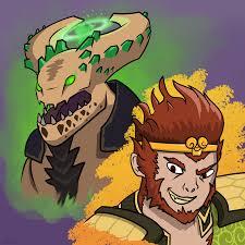 made some fan art of dota 2 s upcoming heroes dota2