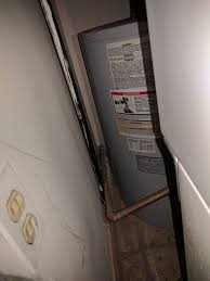 Lowboy Water Heater 50 Gallon Plumbing Replacing 47 Gal Electric Water Heater With No Pan And