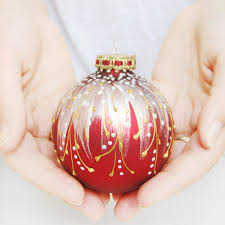 Hand Decorated Christmas Balls Ornament Super Easy Diy Christmas Ornaments Beautiful Glass 37