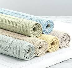 bath rug sizes above the cotton woven bath rug from restoration hardware is available in three bath rug sizes