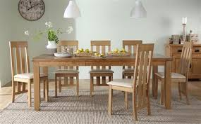 dining table seats 8 chairs. highbury oak extending dining table - with 8 chester chairs (ivory seat pad) seats t