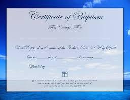 Template For Baptism Certificate Rome Fontanacountryinn Com