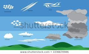 Different Type Clouds Different Levels Sky Stock Vector Royalty