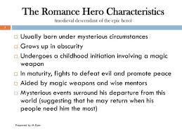 Beowulf Characteristics Of An Epic Hero Chart Ppt The Romance Hero Characteristics Medieval Descendant