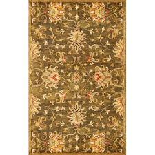 kas oriental rugs syriana emerald green agra rectangular 5 ft x 8 ft rug