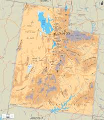 physical map of utah  ezilon maps