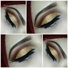 latest arabic bridal eyes makeup tips pictures 2016