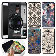 black frame soft silicone tpu for xiaomi redmi note 3 case cover painting back