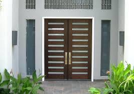 modern wood front door matte wooden doors with glass