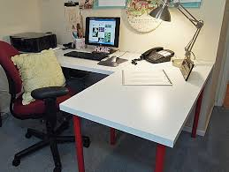 ikea office makeover. L-shaped Ikea Desk Office Makeover