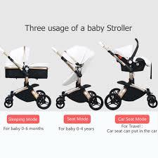 hot deal us 705 00 for 25usd luxury high landscape baby stroller 3 in 1 pu leather baby car eu standard independent newborn basket babyfond pram