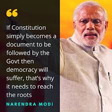 Top 40 Quotes Of Pm Modi On The Constitution Of India In Lok Sabha Enchanting Constitution Quotes